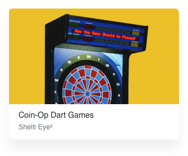 Coin operated dart games